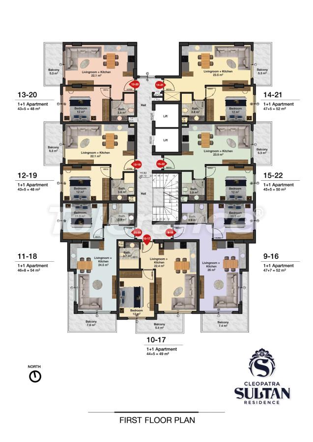 Элитные апартаменты в Алании рядом с пляжем Клеопатра - 28562 | Tolerance Homes