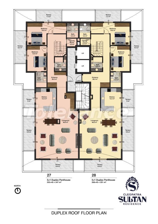 Элитные апартаменты в Алании рядом с пляжем Клеопатра - 28565 | Tolerance Homes