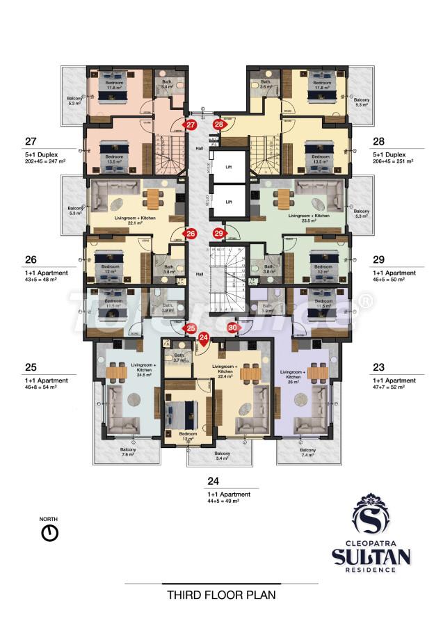 Элитные апартаменты в Алании рядом с пляжем Клеопатра - 28564 | Tolerance Homes