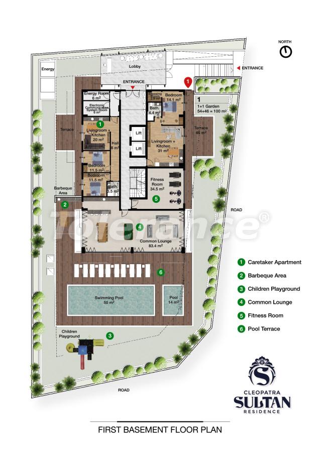 Элитные апартаменты в Алании рядом с пляжем Клеопатра - 28559 | Tolerance Homes