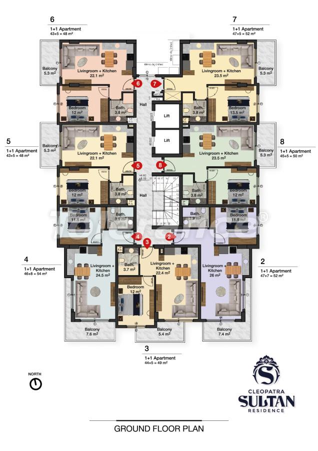 Элитные апартаменты в Алании рядом с пляжем Клеопатра - 28561 | Tolerance Homes