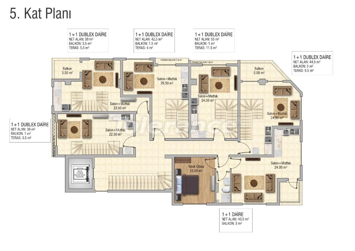Уютные апартаменты в Махмутларе, Алания - 28835 | Tolerance Homes
