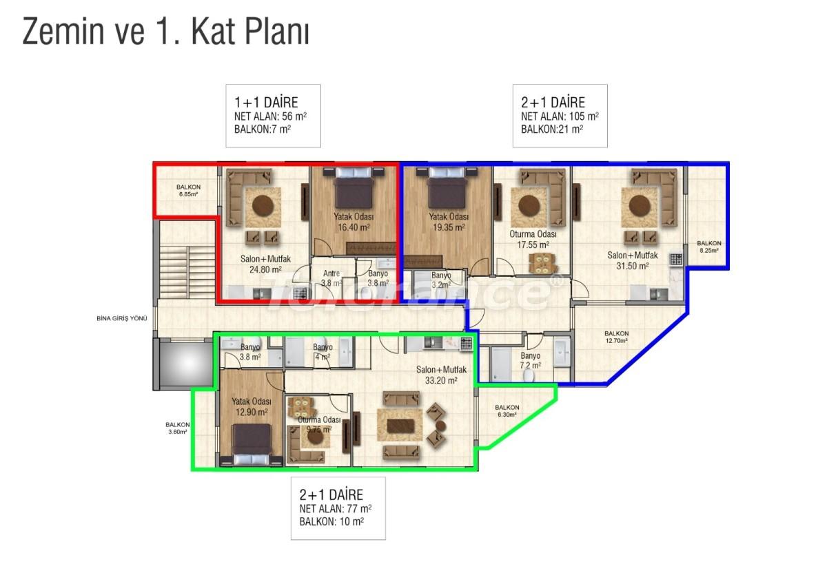 Квартиры в Махмутларе с бассейном от застройщика с рассрочкой до 18 месяцев - 28850 | Tolerance Homes