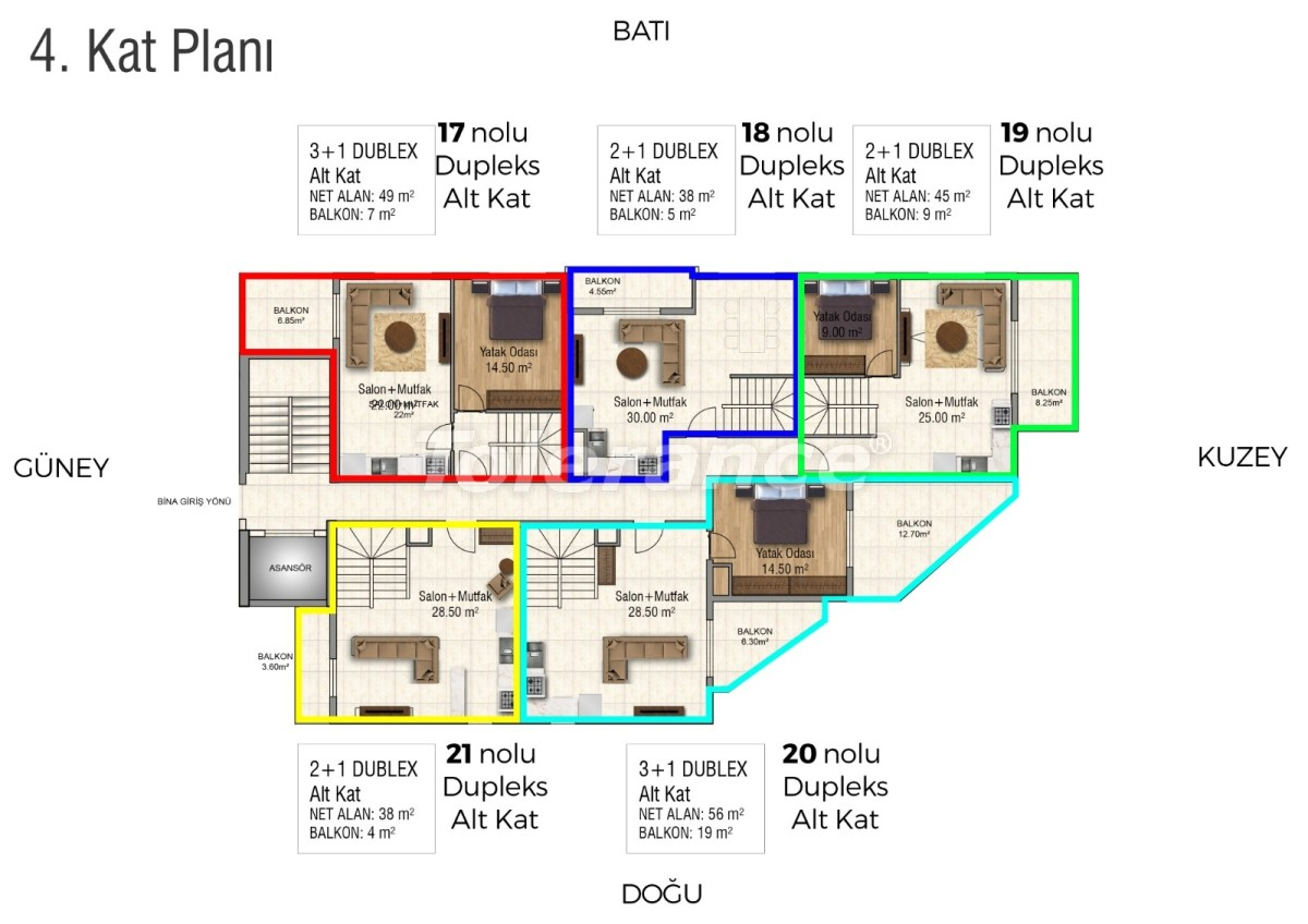 Квартиры в Махмутларе с бассейном от застройщика с рассрочкой до 18 месяцев - 28852 | Tolerance Homes