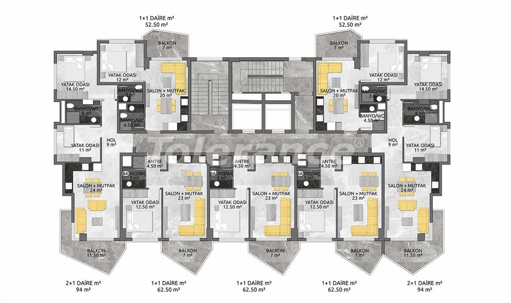 Выгодные инвестиции: квартиры в Махмутларе, Алания в рассрочку от застройщика - 28895   Tolerance Homes
