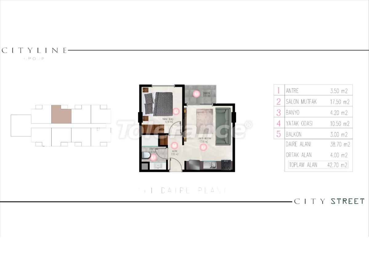 Современные апартаменты в Махмутларе, Алания от надежного застройщика - 28911 | Tolerance Homes