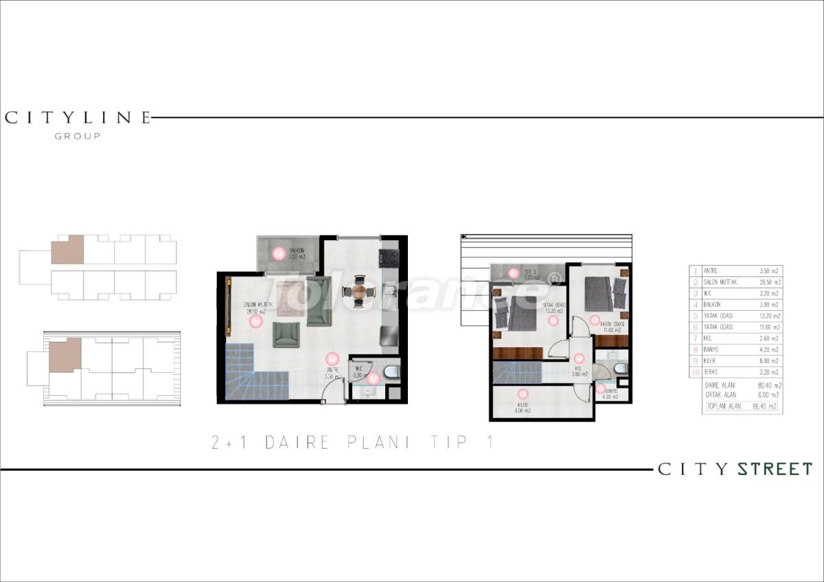 Современные апартаменты в Махмутларе, Алания от надежного застройщика - 28915 | Tolerance Homes