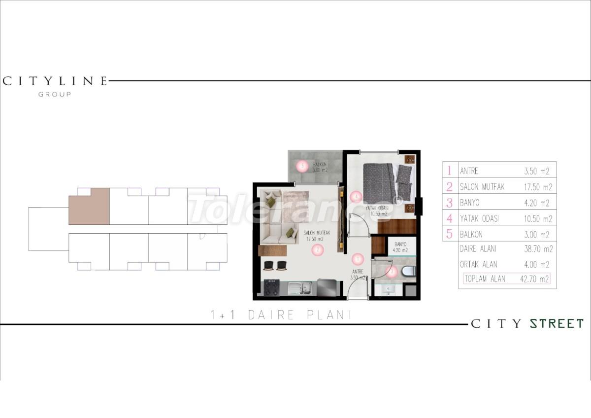 Современные апартаменты в Махмутларе, Алания от надежного застройщика - 28913 | Tolerance Homes