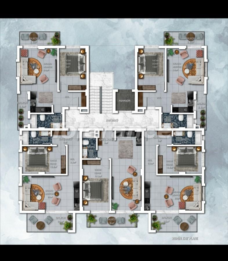 Новый проект апартаментов в Авсалларе, Алания - 28924 | Tolerance Homes