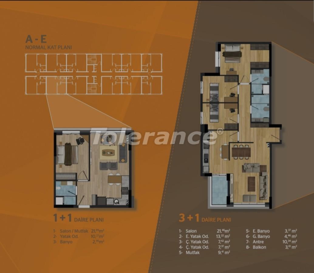 Просторные квартиры в Кепезе, Анталия в современном комплексе - 30504   Tolerance Homes