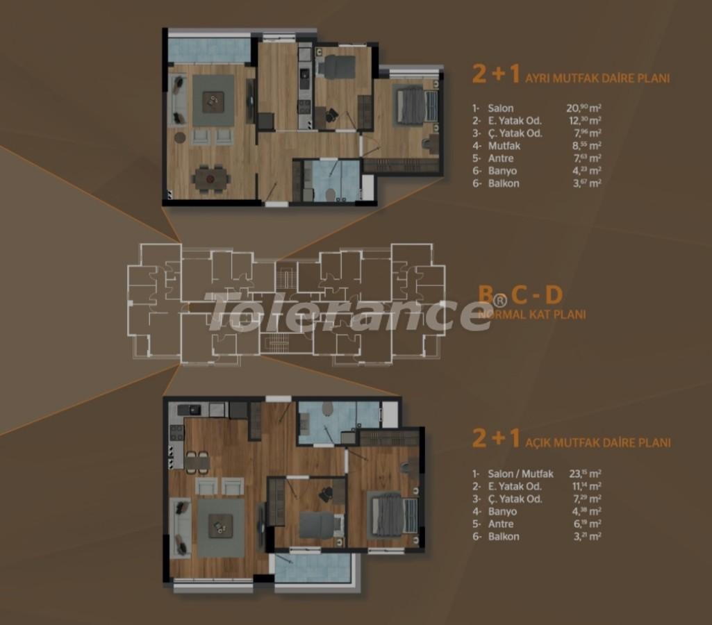 Просторные квартиры в Кепезе, Анталия в современном комплексе - 30503   Tolerance Homes