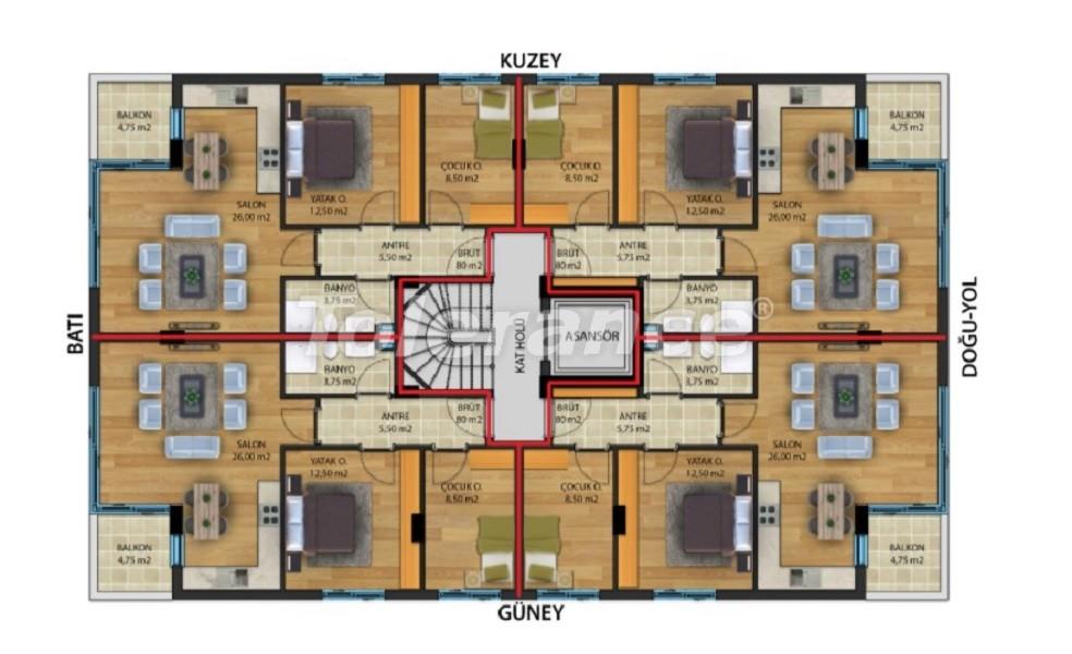 Квартиры класса люкс в Коньяалты,  Анталия от надежного застройщика - 30642 | Tolerance Homes