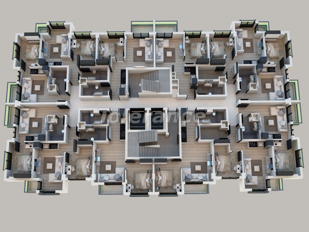 Квартиры в Сарысу, Коньяалты от надежного застройщика, в рассрочку - 31700   Tolerance Homes