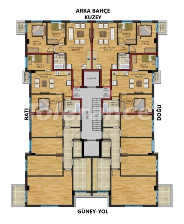 Просторные квартиры в Муратпаша, Анталия от надежного застройщика - 30800 | Tolerance Homes