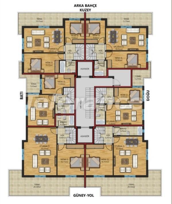 Просторные квартиры в Муратпаша, Анталия от надежного застройщика - 30799 | Tolerance Homes
