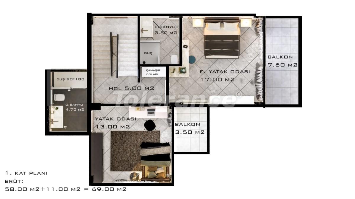 Шикарные виллы в Белеке с частным бассейном с рассрочкой до 1 года - 30884 | Tolerance Homes
