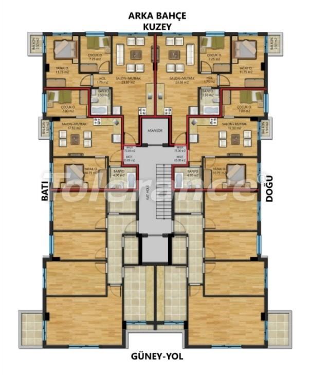 Трехкомнатные квартиры в Муратпаша, Анталия - 30888   Tolerance Homes