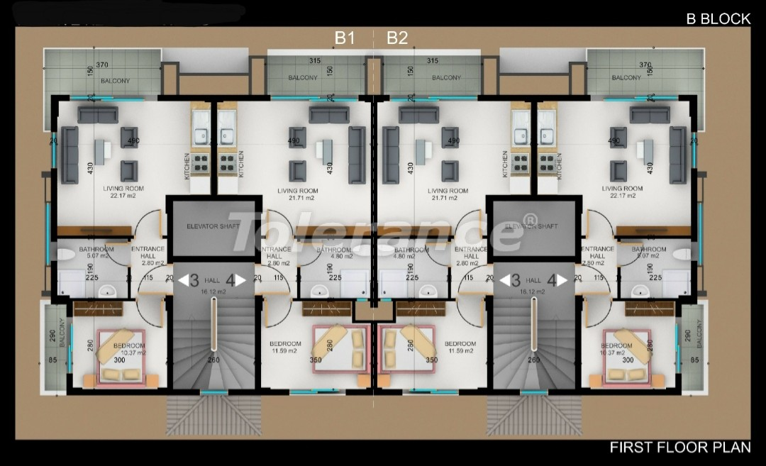 Квартиры в Фетхие от застройщика с рассрочкой - 30973 | Tolerance Homes