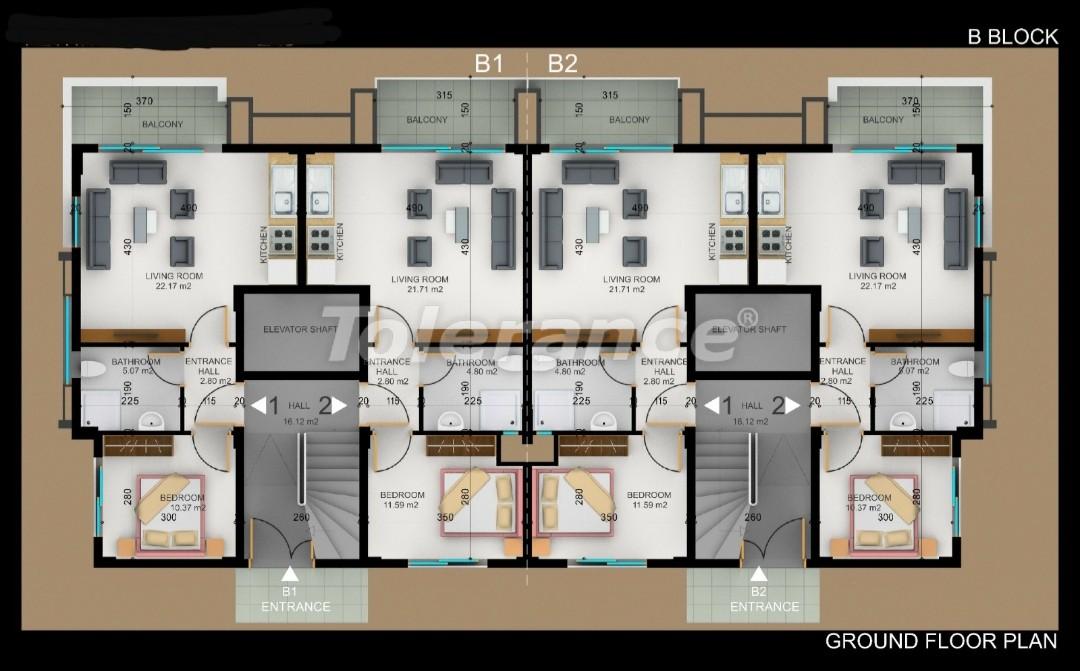 Квартиры в Фетхие от застройщика с рассрочкой - 30977 | Tolerance Homes