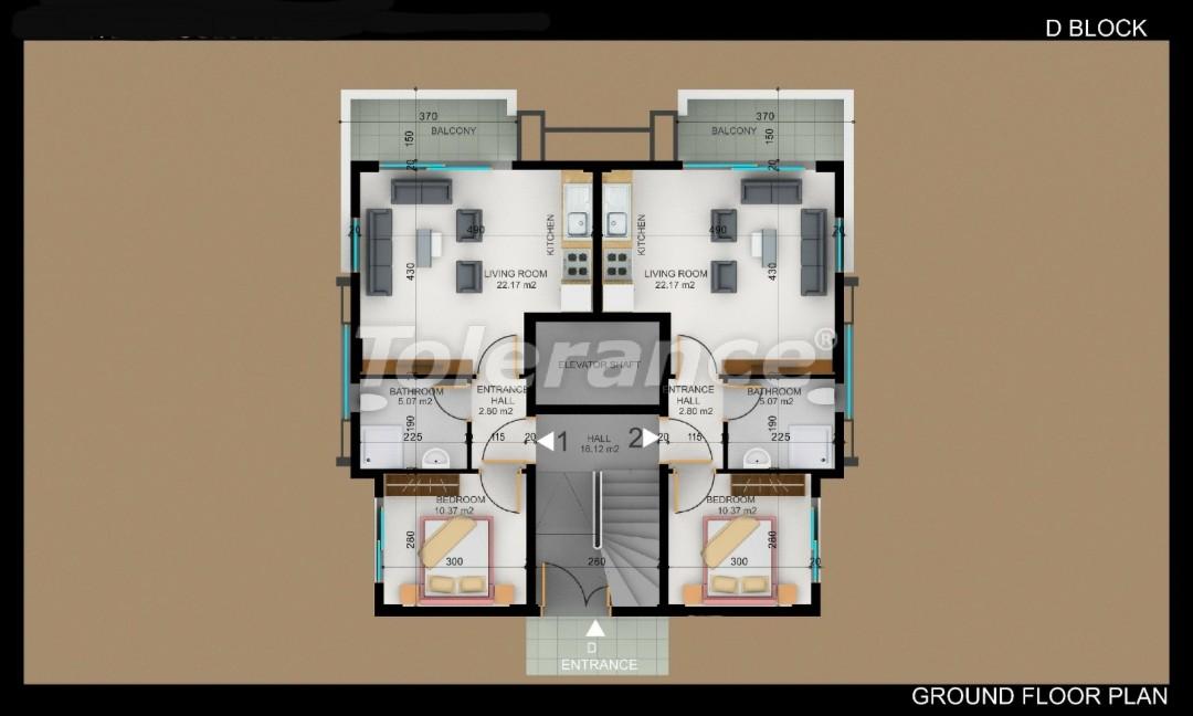 Квартиры в Фетхие от застройщика с рассрочкой - 30985   Tolerance Homes