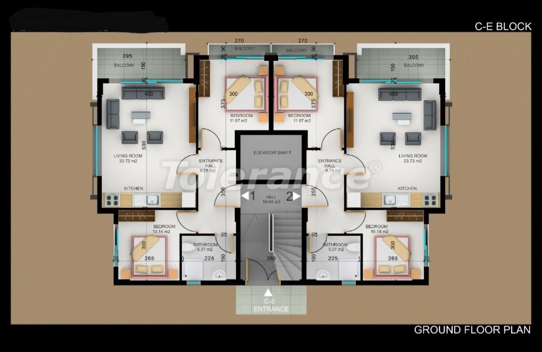 Квартиры в Фетхие от застройщика с рассрочкой - 30980   Tolerance Homes