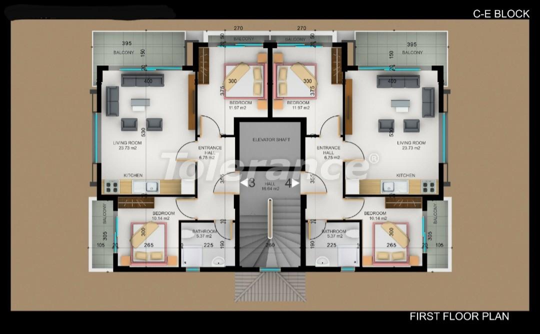 Квартиры в Фетхие от застройщика с рассрочкой - 30978   Tolerance Homes