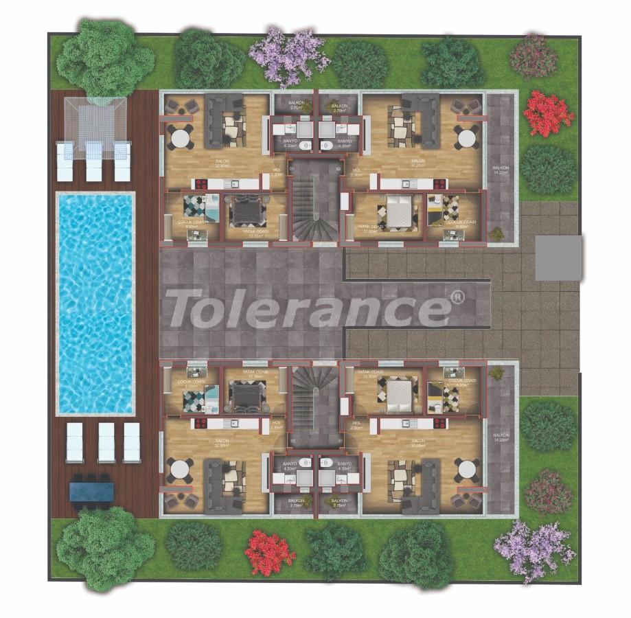 Квартиры класса люкс в Гюзелоба, Анталия в комплексе с бассейном рядом с морем - 31232   Tolerance Homes