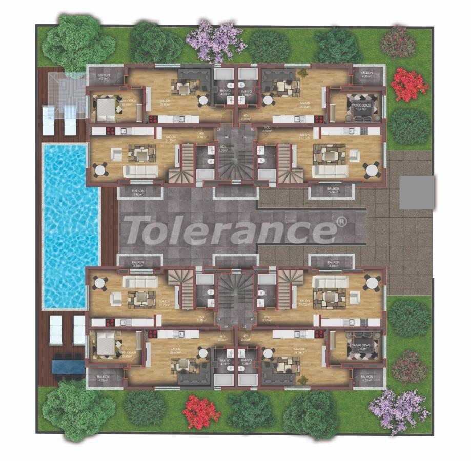 Квартиры класса люкс в Гюзелоба, Анталия в комплексе с бассейном рядом с морем - 31234   Tolerance Homes