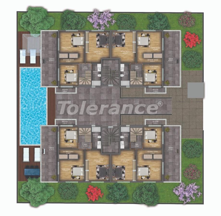 Квартиры класса люкс в Гюзелоба, Анталия в комплексе с бассейном рядом с морем - 31233   Tolerance Homes