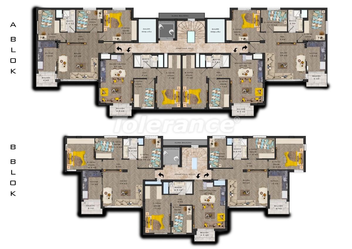 Шикарные современные квартиры в Муратпаша, Анталия в рассрочку от застройщика - 31486 | Tolerance Homes