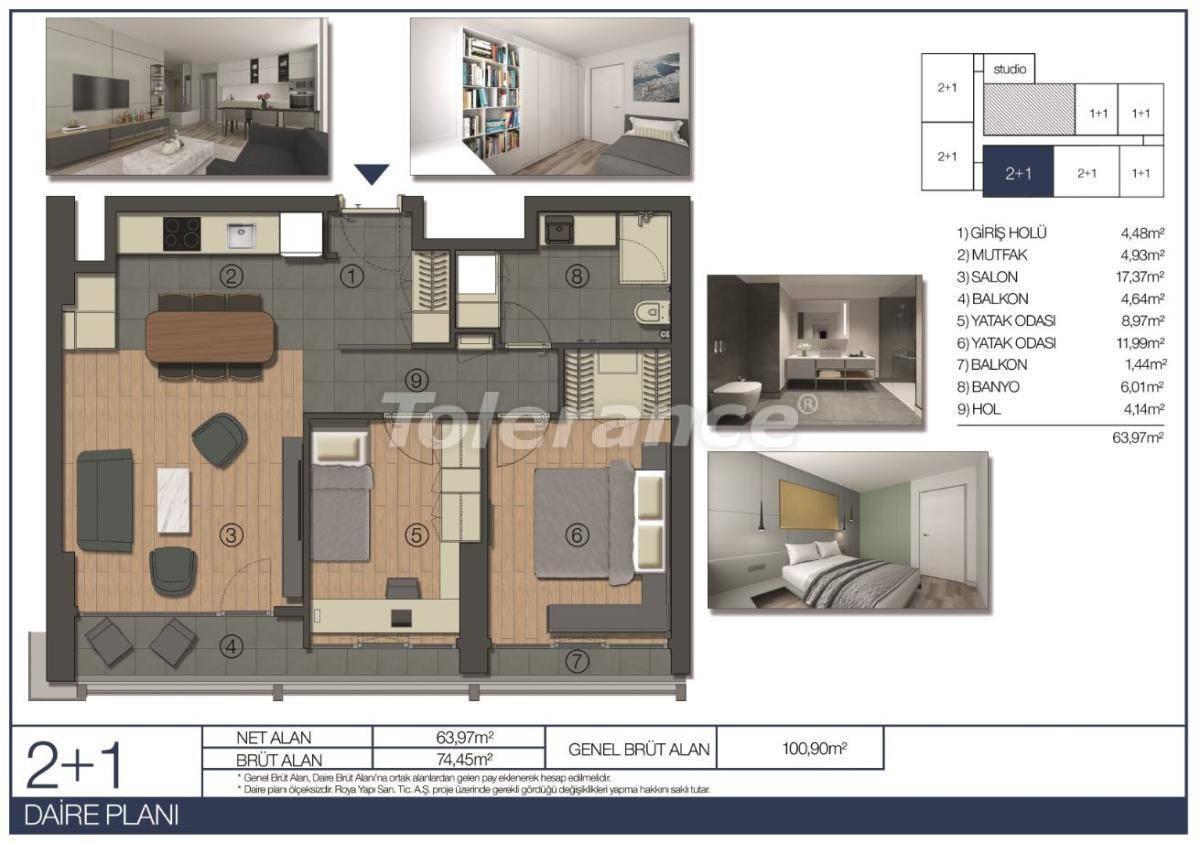 Апартаменты в Умрание, Стамбул в комплексе отельного типа рядом c финансовым центром - 31545 | Tolerance Homes