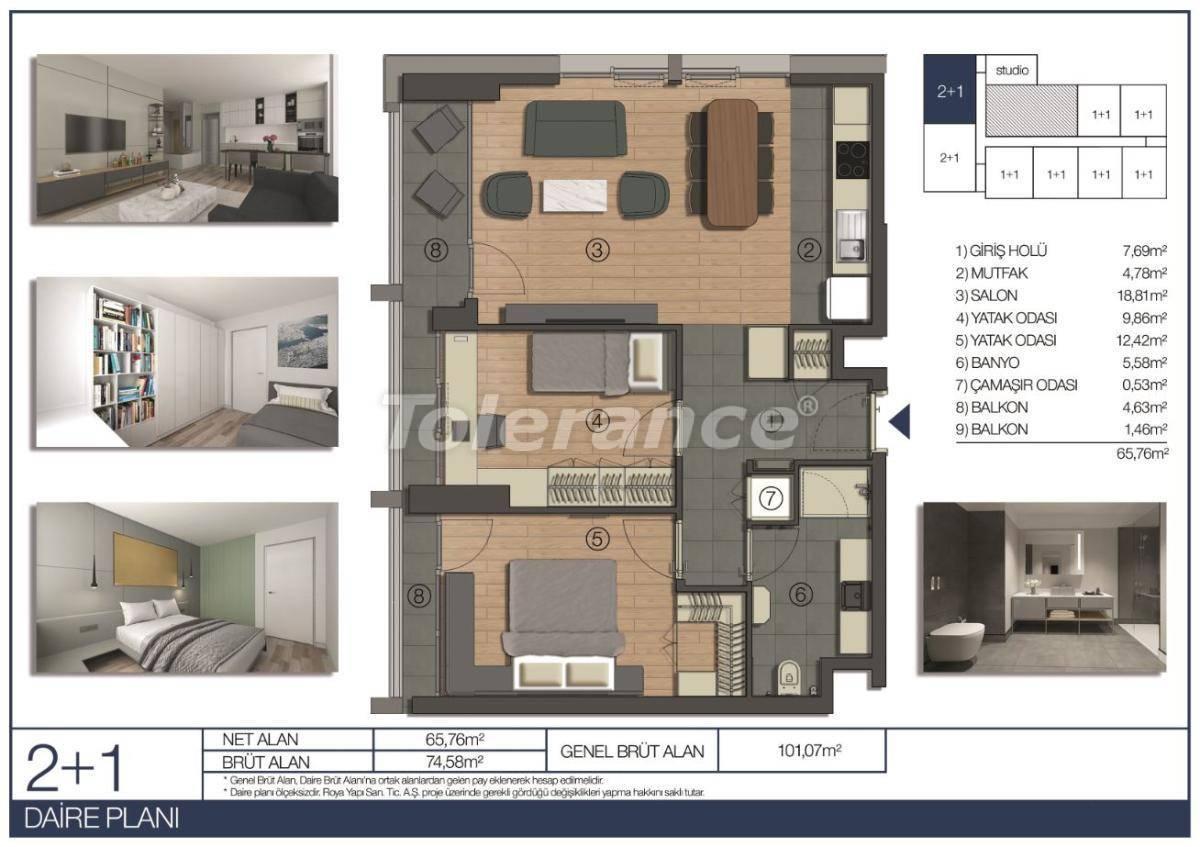 Апартаменты в Умрание, Стамбул в комплексе отельного типа рядом c финансовым центром - 31544 | Tolerance Homes