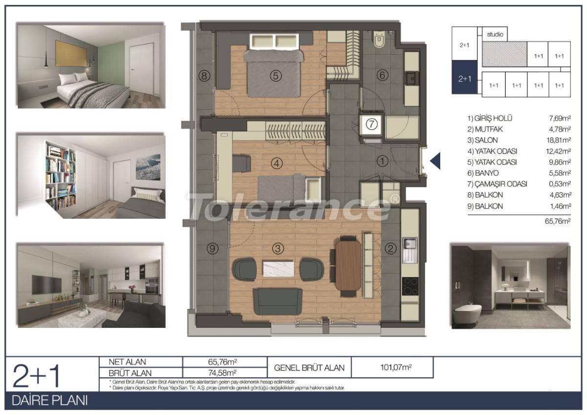 Апартаменты в Умрание, Стамбул в комплексе отельного типа рядом c финансовым центром - 31546 | Tolerance Homes