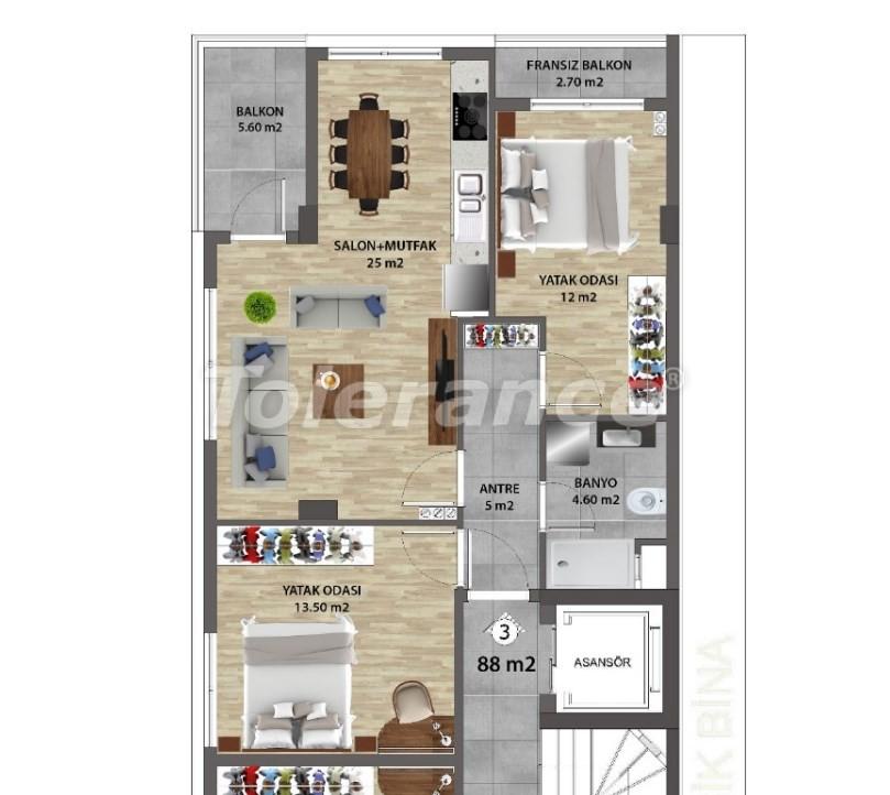 Современные квартиры в Ларе, Анталия от надежного застройщика - 31674 | Tolerance Homes