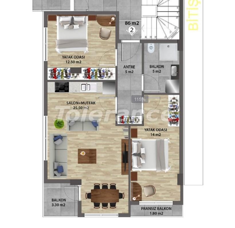 Современные квартиры в Ларе, Анталия от надежного застройщика - 31673 | Tolerance Homes