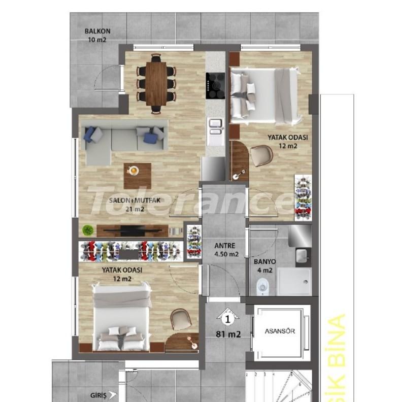 Современные квартиры в Ларе, Анталия от надежного застройщика - 31672 | Tolerance Homes