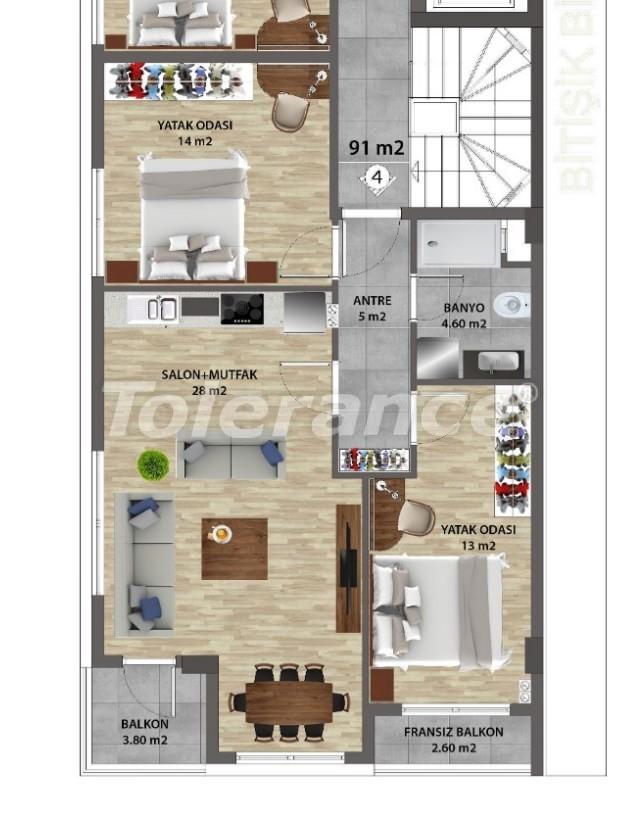 Современные квартиры в Ларе, Анталия от надежного застройщика - 31675 | Tolerance Homes