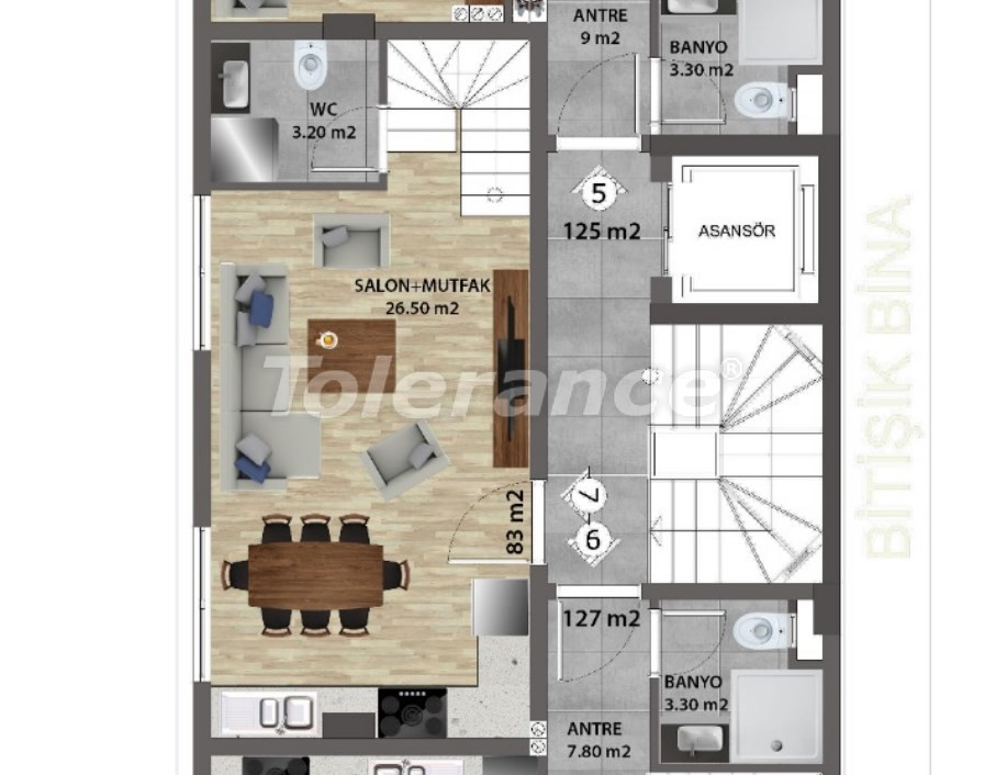 Современные квартиры в Ларе, Анталия от надежного застройщика - 31678 | Tolerance Homes