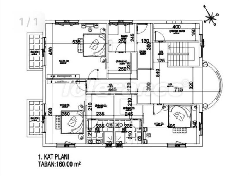 Элитные виллы в Дошемеалты, Анталия с частным бассейном и сауной - 31754   Tolerance Homes