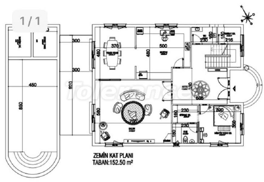 Элитные виллы в Дошемеалты, Анталия с частным бассейном и сауной - 31753 | Tolerance Homes