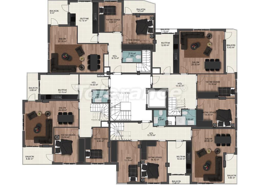 Просторные квартиры в Муратпаша, Анталья от застройщика - 33223 | Tolerance Homes