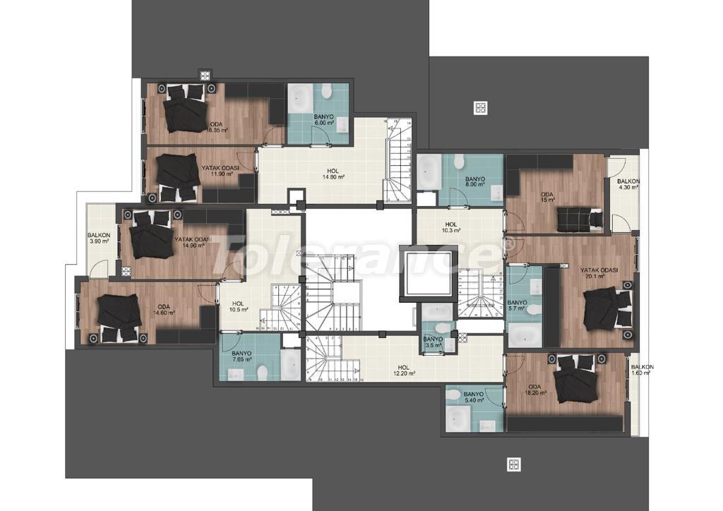 Просторные квартиры в Муратпаша, Анталья от застройщика - 33224 | Tolerance Homes