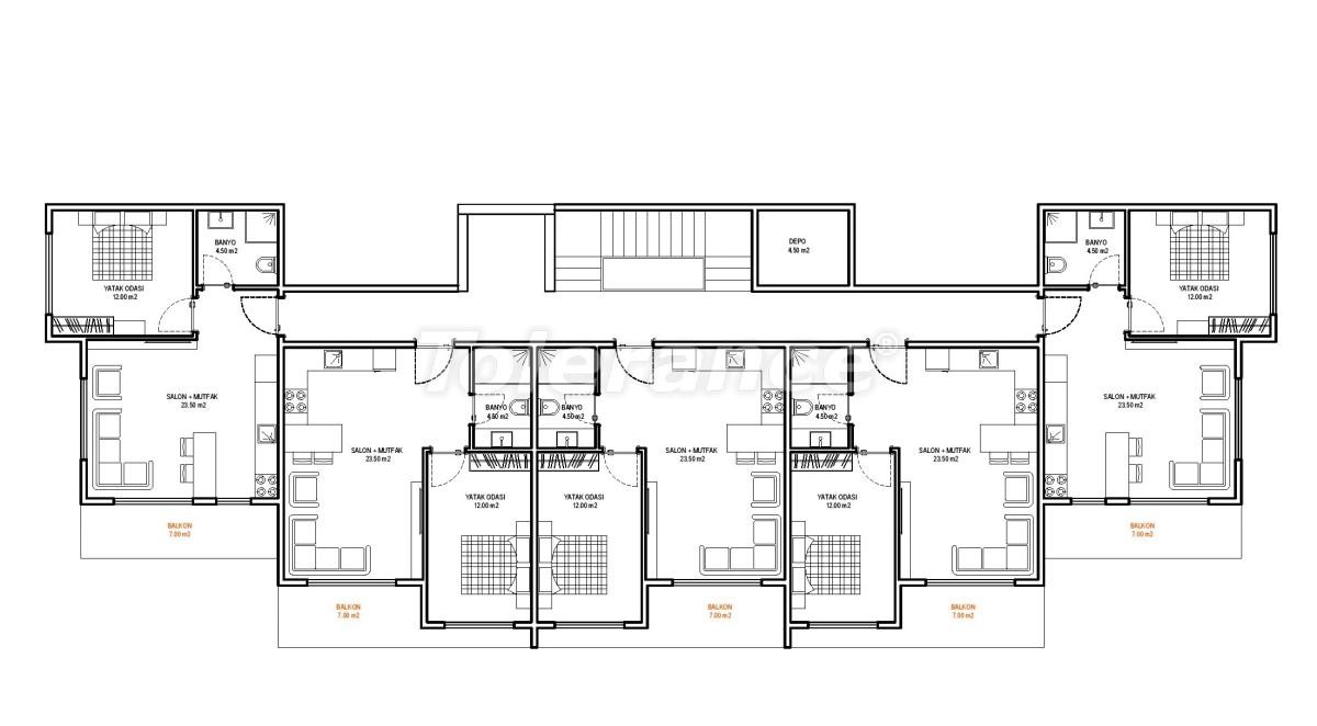 Современные апартаменты в Алании (Авсаллар) от надежного застройщика с рассрочкой платежа - 33244   Tolerance Homes