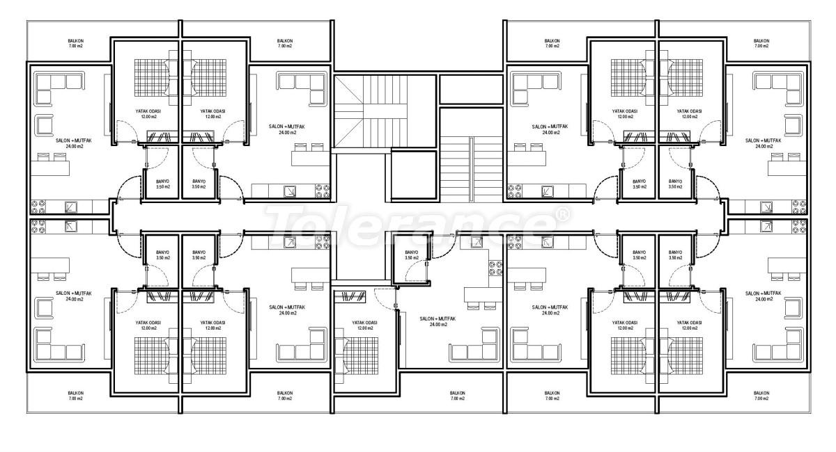 Современные апартаменты в Алании (Авсаллар) от надежного застройщика с рассрочкой платежа - 33247   Tolerance Homes