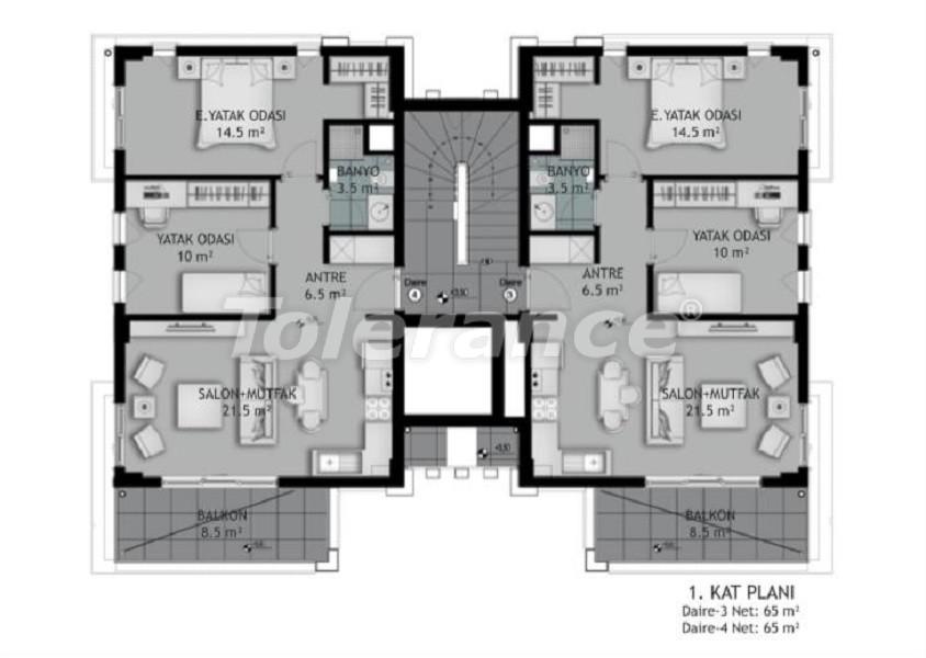 Новые трехкомнатные квартиры в Белеке в комплексе с открытым бассейном, от застройщика - 33575 | Tolerance Homes