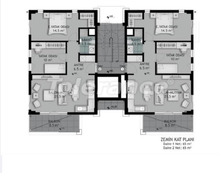 Новые трехкомнатные квартиры в Белеке в комплексе с открытым бассейном, от застройщика - 33573 | Tolerance Homes