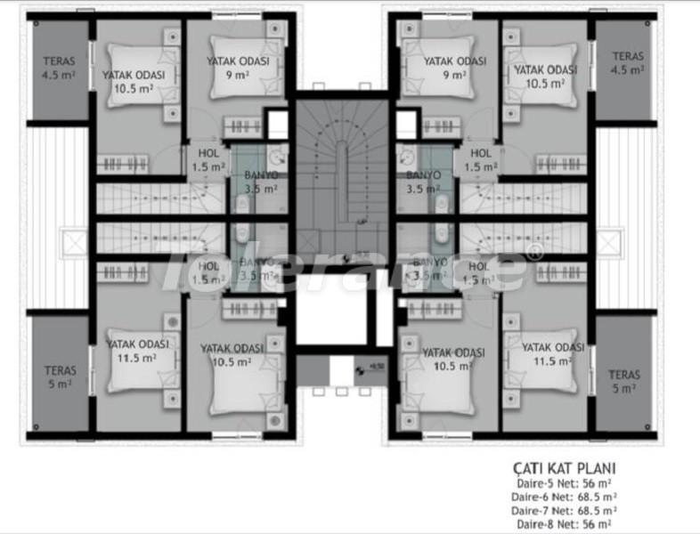 Новые трехкомнатные квартиры в Белеке в комплексе с открытым бассейном, от застройщика - 33576 | Tolerance Homes