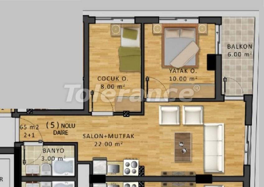 Недорогая трехкомнатная квартира в центре Анталии - 34075   Tolerance Homes