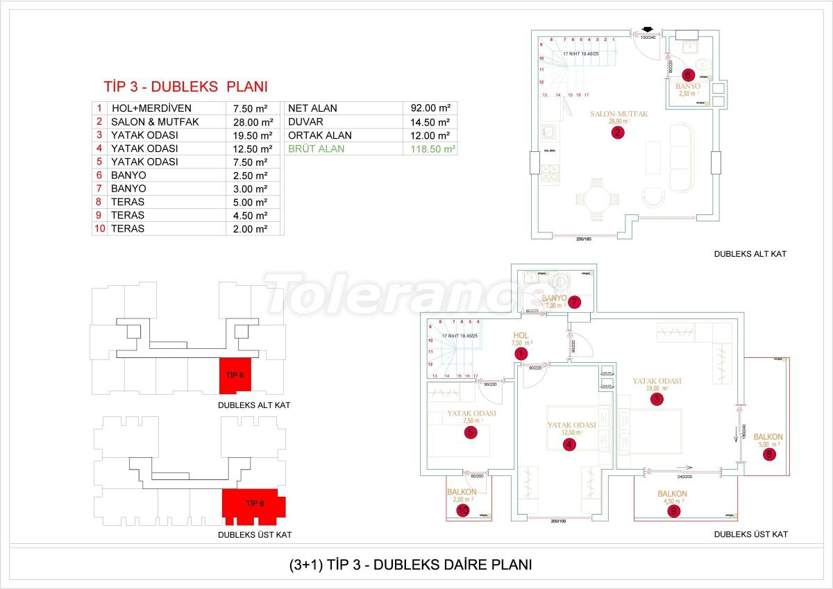Недорогие и уютные апартаменты в новом комплексе в Алании, Оба - 33729   Tolerance Homes