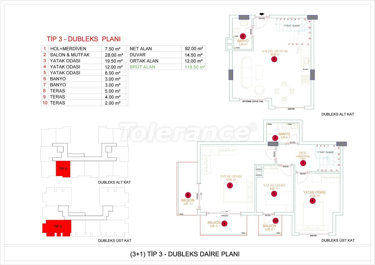 Недорогие и уютные апартаменты в новом комплексе в Алании, Оба - 33726   Tolerance Homes